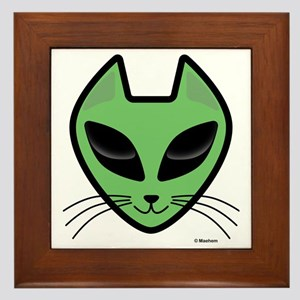 AlienKitty Framed Tile