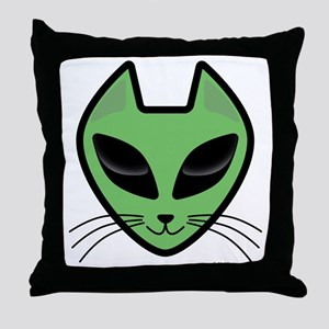 AlienKitty Throw Pillow