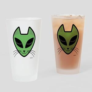 AlienKitty Drinking Glass