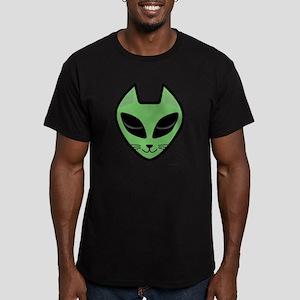 AlienKitty Men's Fitted T-Shirt (dark)