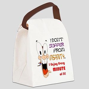I ENJOY INSANITY 2 transparent Canvas Lunch Bag