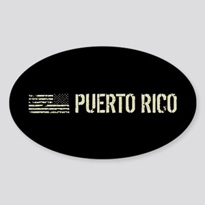 Black Flag: Puerto Rico Sticker (Oval)