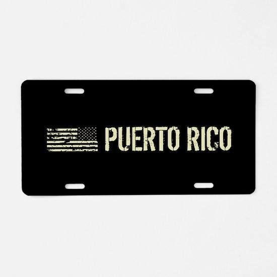 Black Flag: Puerto Rico Aluminum License Plate