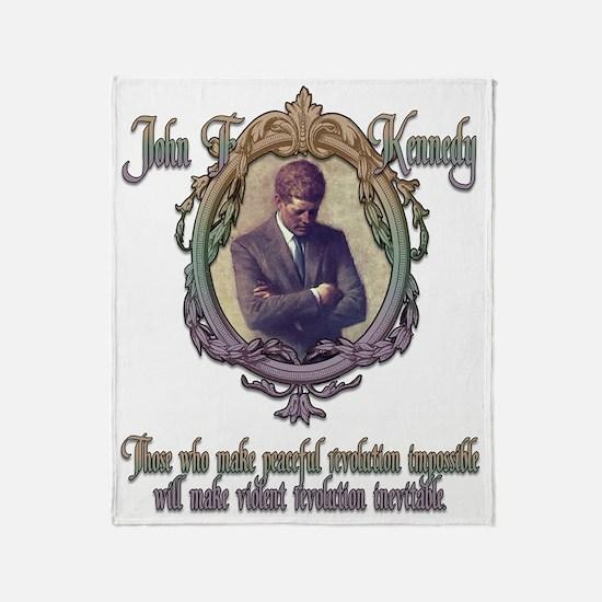3-JFK on Revolution Throw Blanket