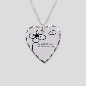 Forget-Me-Not Necklace Heart Charm