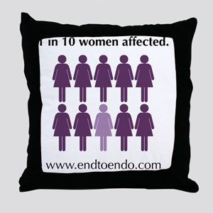 ten Throw Pillow