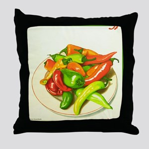 Chiles Throw Pillow
