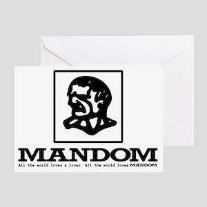 Mandom white Greeting Card