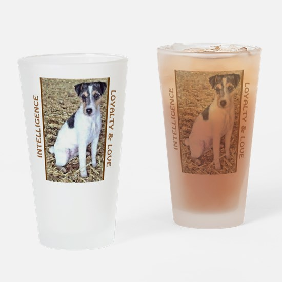 JACK RUSSELL TRAITS Drinking Glass