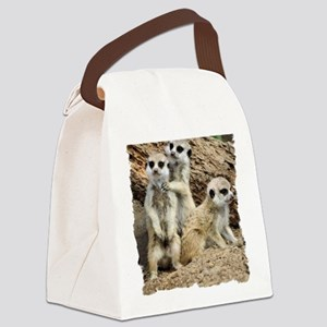 I LOVE MEERKATS! Canvas Lunch Bag