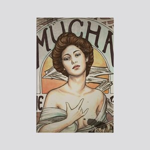 Vintage Mucha Rectangle Magnet