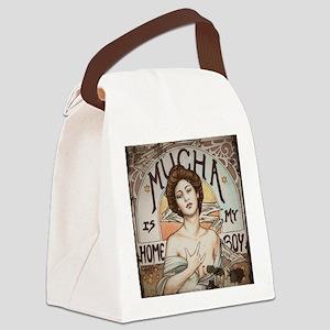 Vintage Mucha Canvas Lunch Bag