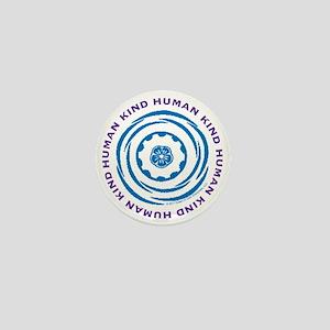 Human Kind BluePurple Mini Button