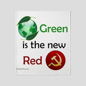 greennewredshirt Throw Blanket