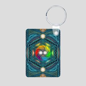 Reconcilliation-Mandala Aluminum Photo Keychain