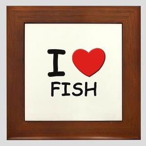 I love fish Framed Tile