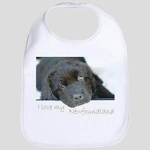 I love my Newfoundland puppy Bib