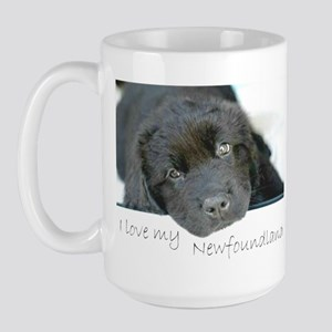 I love my Newfoundland puppy Large Mug