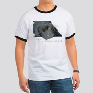 I love my Newfoundland puppy Ringer T