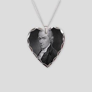 Alexander Hamilton by E Prudh Necklace Heart Charm