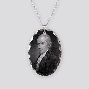 Alexander Hamilton by E Prudho Necklace Oval Charm