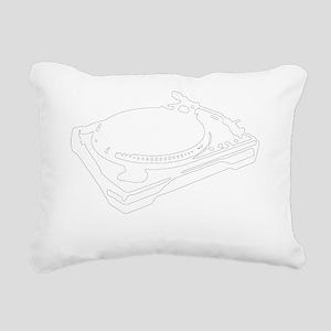 turntablist Rectangular Canvas Pillow