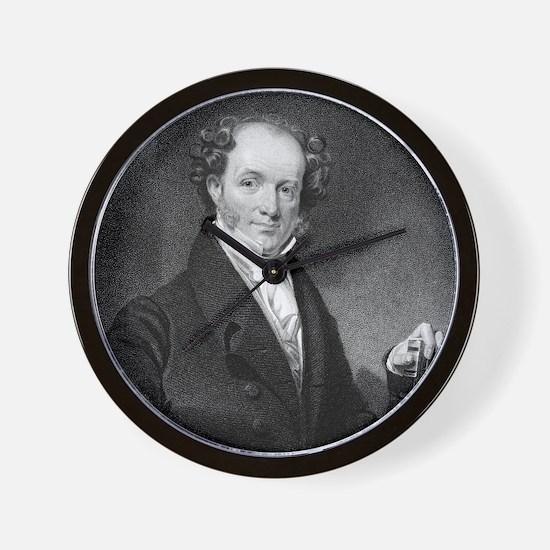 Martin Van Buren by E Wellmore after H  Wall Clock