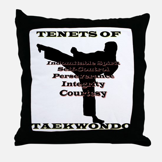 TraditionalTKDTenantsShadow Throw Pillow