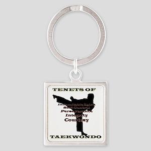 TraditionalTKDTenantsShadow Square Keychain