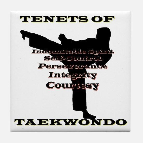 TraditionalTKDTenantsShadow Tile Coaster