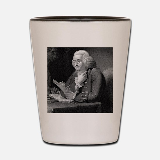 Benjamin Franklin by TB Welch after Mar Shot Glass