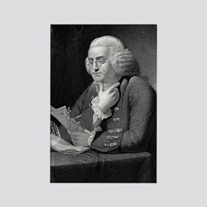 Benjamin Franklin by TB Welch aft Rectangle Magnet