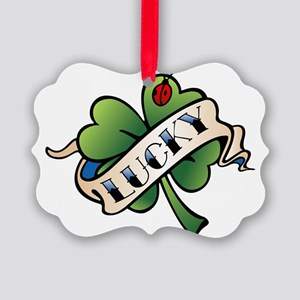 Lucky Tattoo Picture Ornament