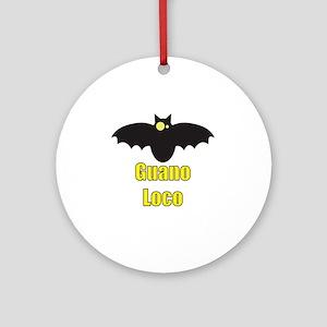 Guano Loco Bat Round Ornament
