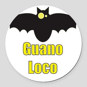 Guano Loco Bat Round Car Magnet