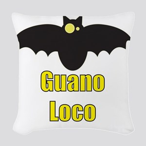 Guano Loco Bat Woven Throw Pillow