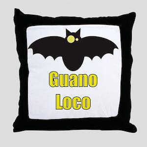 Guano Loco Bat Throw Pillow