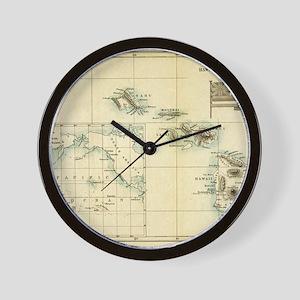 Map of Hawaii by London Longman  Co - E Wall Clock