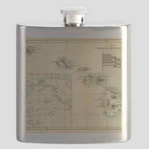 Map of Hawaii by London Longman  Co - Edit Flask