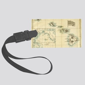 Map of Hawaii by London Longman  Large Luggage Tag