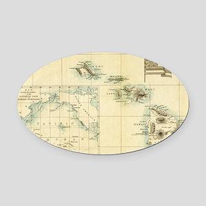 Map of Hawaii by London Longman  C Oval Car Magnet