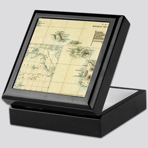Map of Hawaii by London Longman  Co - Keepsake Box