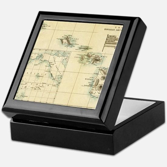 Map of Hawaii by London Longman  Co - Keepsake Box