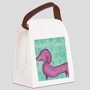 Polk-a-Doxie Mousepad Canvas Lunch Bag