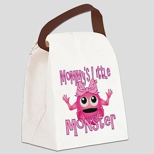 Girl Mommys Little Monster Canvas Lunch Bag