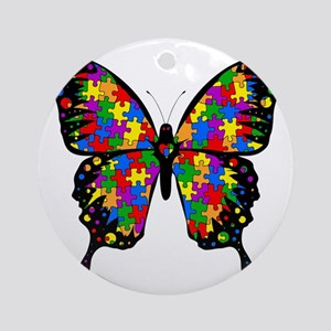 autismbutterfly Round Ornament
