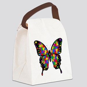 autismbutterfly Canvas Lunch Bag