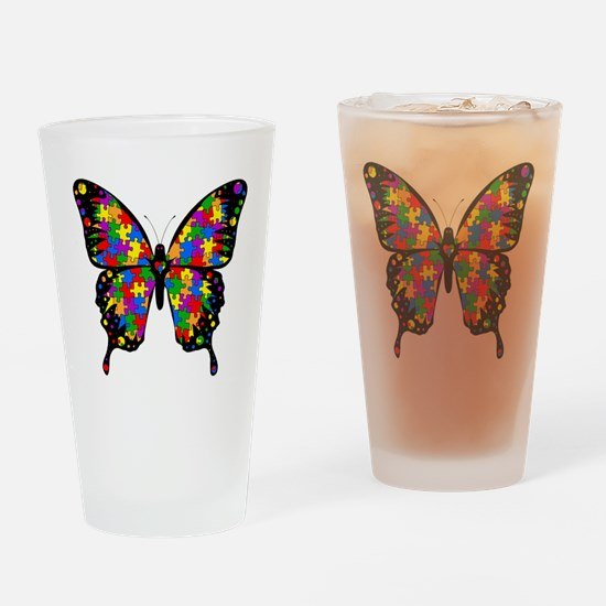 autismbutterfly Drinking Glass