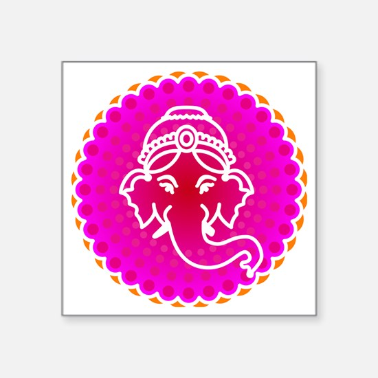 "Ganesh to refresh! Square Sticker 3"" x 3"""
