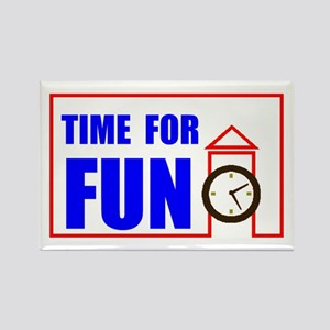 TIME FOR FUN Rectangle Magnet